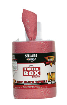 Sellars 174 Drc Wipers Red Shop Rags Bucket Refills U S