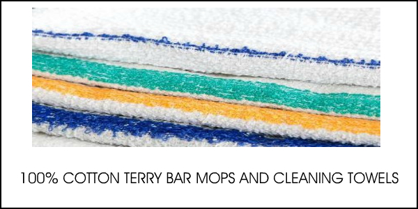 COTTON BAR MOPS AND CLEANING TOWELS