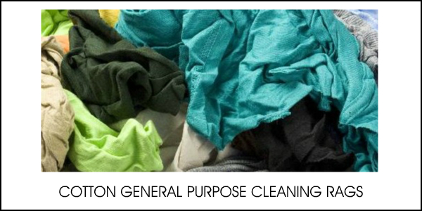 COTTON GENERAL PURPOSE CLEANING RAGS