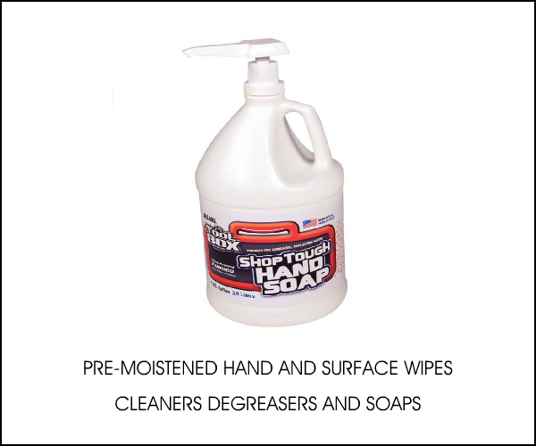 HAND WIPES, SOAPS AND CLEANERS