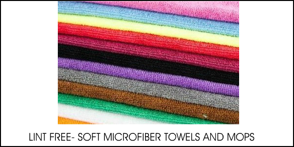 MICROFIBER TOWELS AND MOPS