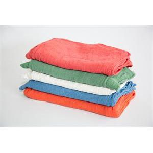 bulk shop towels - red, green, white, blue & orange shop towels
