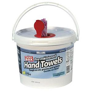 pre moistened hand towels - sellars wet wipes