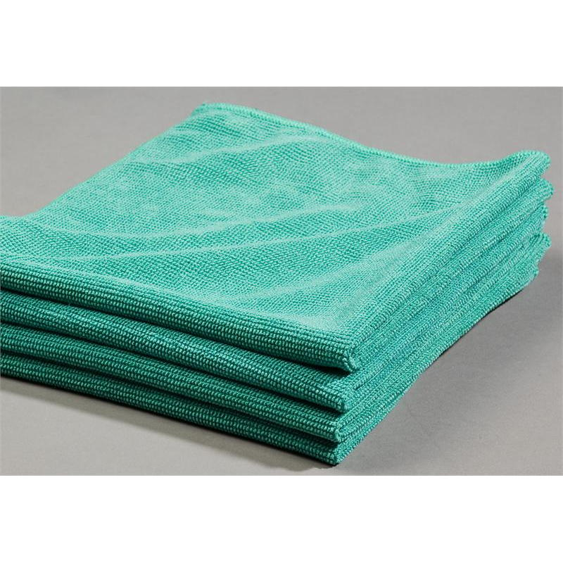 Green microfiber glass cleaning cloths towels u s wiping for Glass cleaning towels