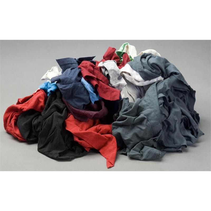 Colored knit bulk cleaning rags u s wiping for T shirt rags bulk
