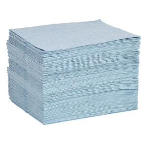 blue fine fiber oil absorbent pads