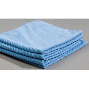 Blue Glass Cleaning Microfiber Cloth