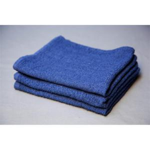 terry blue bar towels - b grade