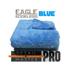 eagle edgeless detail master pro blue microfiber towel