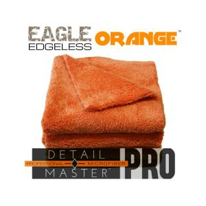 eagle edgeless detail master pro orange microfiber towel