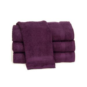 eggplant purple salon towels