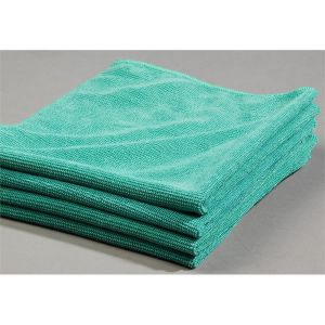 Green Glass Cleaning Microfiber Cloths