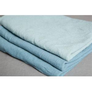 misty blue huck towels - 50 lb