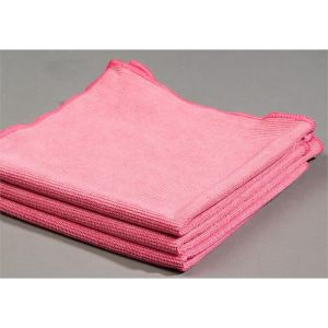 Pink Glass Cleaning Microfiber Cloth