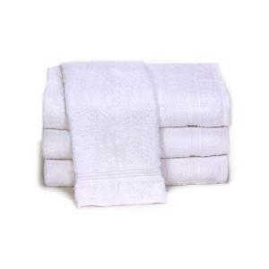 plush white towels