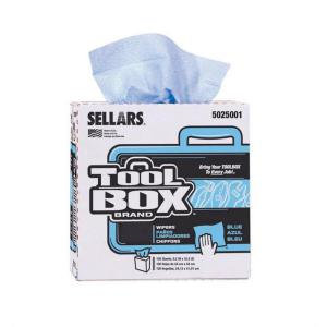 toolbox wiping cloths blue pop up box