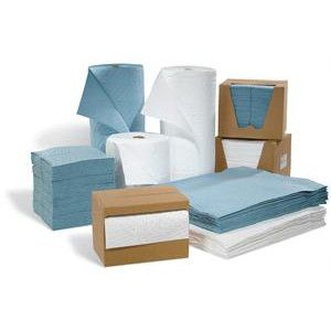 fine fiber absorbent pads and rolls