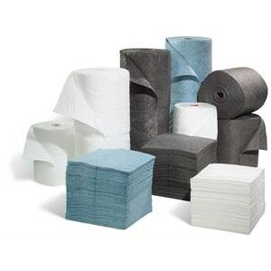 multi-laminate oil absorbent pads and rolls